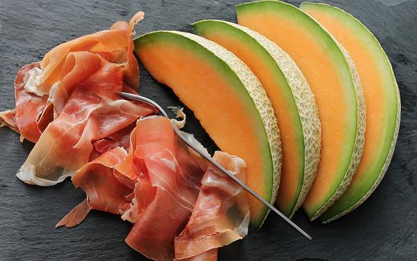 como preparar meriendas saludables para adelgazar melon con jamon