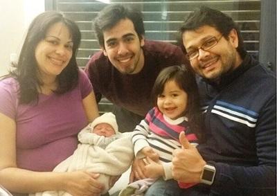 Mi familia, dos días después del nacimiento de Amélie